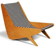 José Zanine Caldas; Plywood Lounge Chair, 1950s.