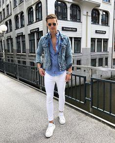 Calça branca masculina 1 peça, 5 looks