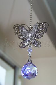 Equilibrium Filigree Butterfly 3D Crystal Decoration