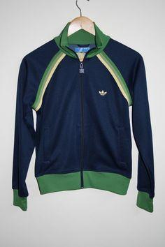 15e5c1307 Vintage Woman Tracksuit Adidas Zip Blazer Jumper Size M Polyester Blue  Jamaica