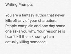 It's because you are the villain that causes the misery by forcing ppl to play your game i.e. act your story out