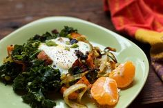 Healthy Breakfast Recipe: Sweet Potatoes, Kale and Eggs...super high in phytonutrients!