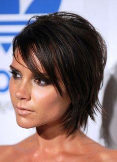 Victoria Beckham Short Layered Hairstyles