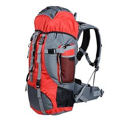 CHIMAERA Comfort Wear Travel Backpack for Camping Hiking Mountaineering Red * Click on the image for additional details. (This is an affiliate link) #CampingBackpacksandBags
