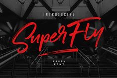 Introducing SuperFly! A cool, classy, and versatile brush font with a loose flow.  SuperFly combines attractive curves with a fresh urban edge; delivering a stylish script which is guaranteed to add an eye-catching appeal to your logo designs, brand imagery, handwritten quotes, product packaging, merchandise & social media posts.  SuperFly Brush Font - Script