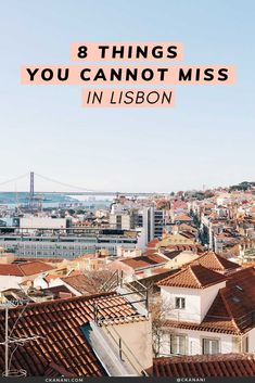 Heading to Lisbon and wondering what to do? I have narrowed down my list to 8 things you absolutely cannot miss! The best non-cliche, off-the-beaten-path things to see, do, eat, and drink. Visit Portugal, Portugal Travel, Lisbon Portugal, Romantic Vacations, Romantic Travel, Cool Places To Visit, Places To Travel, Europe Travel Guide, Travel Guides
