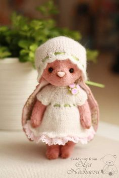Asha DISCOUNT!!! By Ольга Нечаева - Christmas and New Year discounts!!! old price 125 euro.Good afternoon dear friends!Today, I am pleased to present to you my rabbit Asha. Bunny kind and affectionate.I sewed it by hand from the German viscose hand-dyeing. Inside the baby: sintepon, granules, pi...
