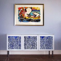Sea Fan Cabinet Panels, Painted -- Residence, Naples, FL