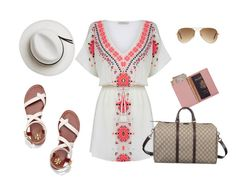 Untitled #633 by alliedrover on Polyvore featuring polyvore, fashion, style, Oasis, Tory Burch, Gucci, Royce Leather, Ray-Ban, Calypso Private Label and clothing