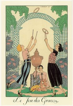 Art Deco master illustrator George Barbier fashion illustration