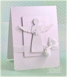 White angel card by Debbie Olson for Papertrey Ink (September 2011).