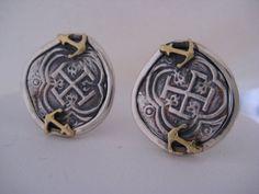 Atocha Cufflinks 18K Solid Gold Sterling Silver by NauticalFeeling, $269.00