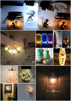 25 Gorgeous DIY Nightlights To Match Any Home Decor #diy #homedecor #decorating #lighting #crafts #cute via @vanessacrafting
