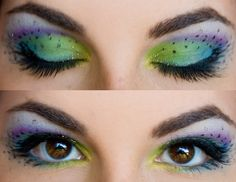 Peacock makeup.  Possibly for Halloween @Melinda Mullins can you do this makeup?