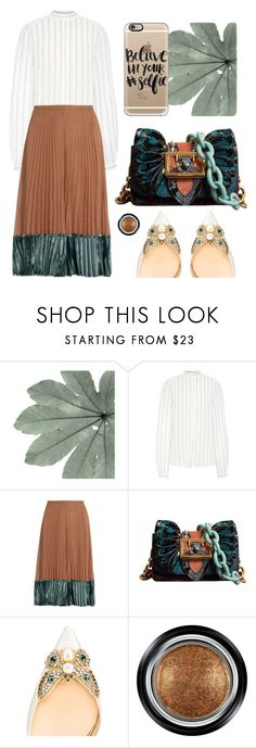 """""""Believe in your selfie"""" by cherieaustin ❤ liked on Polyvore featuring Valentino, Burberry, Christian Louboutin, Giorgio Armani and Casetify"""