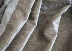 Linen Pile Velvet in Almond Detail