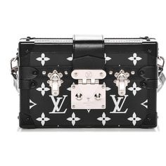 LOUIS VUITTON Reflective Petite Malle Black ❤ liked on Polyvore featuring bags, handbags, shoulder bags, travel shoulder bags, leather cross body purse, leather purses, leather shoulder bag and mini crossbody purse