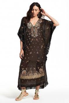 Lorsea Embellished Silk Caftan