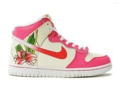 Nike Dunk High Womens Lotus Pink Custom Shoes