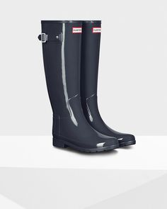 Original Refined Gloss Rain Boot | Dark slate
