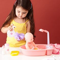 Styled this. Bathtub version one. (84451) Caring for Baby: Dolls & Accessories