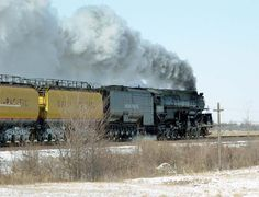 This is the most powerful steam locomotive ever made, the Challenger! Still in operation as Union Pacific train