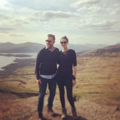 Caitriona with her bestie @donaljbrophy  Conic Hill We climbed a mountain! @caitriona Balfe #countrylife #scotland