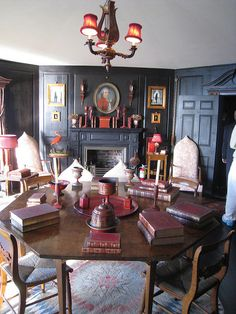 Beauport: Henry Davis Sleeper-McCann House in Gloucester Massachusetts. Decor, Inspiration, Historic Homes, Black Walls, House, Beautiful Interiors, Interior Design, Home Decor, House Interior