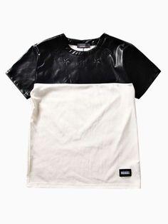 Contrast Color PU Unisex T-shirt | Choies