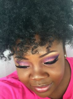 """""""Beautiful Pink and Purple Eyeshadow look, Perfect for Valentine's Day! Kiss Makeup, Love Makeup, Beauty Makeup, Makeup Ideas, Purple Eyeshadow Looks, Pink Eyeshadow, Chocolate Makeup, Curly Hair Styles, Natural Hair Styles"""