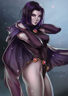 jasonmt83: exotication: Raven by dandonfuga cant WAIT to see damien/raven dynamic in the new dcau and comic