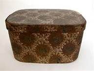 antique wallpaper boxes ..I like the color of this wallpaper box...