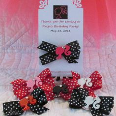 Black or Red Dot BARBIE Pary Favors 12 by Sootysdressupfriends, $36.00