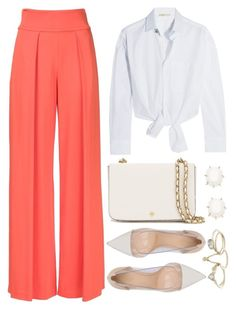 """""""Untitled #3957"""" by natalyasidunova ❤ liked on Polyvore featuring Nicole Miller, Maje, Gianvito Rossi, Tory Burch, Kendra Scott and Lipsy"""