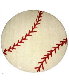 Baseball Rug (3'3 Round)   Overstock.com Shopping - The Best Deals on Accent Rugs