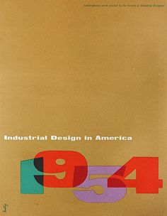 Alvin Lustig, Industrial design in America 1954