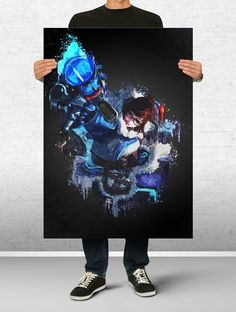Mei Overwatch Poster Art Print Watercolor Wall Decor Game Print Poster Gift