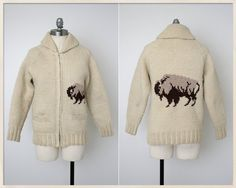 vintage 50s cowichan sweater // 60s buffalo by FoxandBearVintage, $110.00 Met a guy on set with an authentic Cowichan sweater and now I want one!