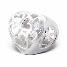 HEARTS IN HEART Charm Bead 925 Sterling Silver Fits Trollbeads Chamillia Biagi and All  EuropeanCharm Bracelets. $17.99, via Etsy.