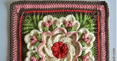 Here is my latest crochet feat! I made this square to go with my Ravelry Block a Month Crochet Along blanket project. This beaut...
