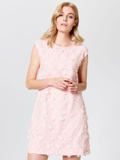 Sukienka z kwiatową aplikacją LITTLE PRINCESS - różowy - TK008-03X - Mohito - 2