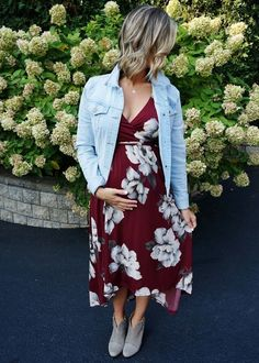 Fall Florals // pregnancy style // fall fashion