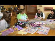 "▶ ""Textile art"" - creating new surfaces using fabric scraps - YouTube"