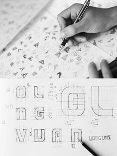Long Van Group - Brand identity on Behance 2 Logo, Logo Branding, Logo Design Inspiration, Icon Design, Agency Logo, Logo Sketches, Logo Process, Identity Design, Brand Identity