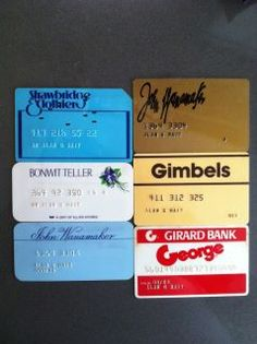 I remember these charge cards, and I see one of my favorite stores...Strawbridge & Clothier!!!