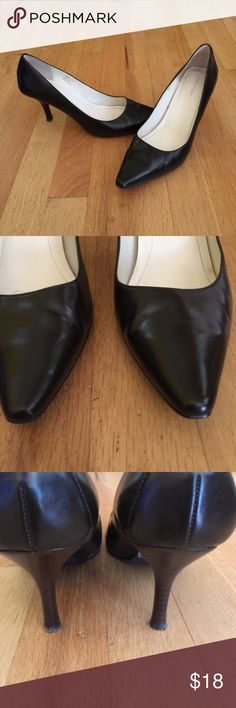 Calvin Klein black classic pumps Calvin Klein black classic style 3 inch heel pumps.  Only worn a few times. Some wear on bottom of shoe. Calvin Klein Shoes Heels