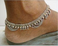 Silver Anklets Designs, Anklet Designs, Anklet Jewelry, Beaded Jewelry, Beaded Bracelets, Ankle Chain, Choker, Gold Jewellery Design, Piercings