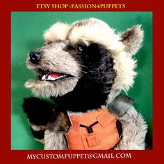 Advanced Animal Custom Puppet Professional Quality hand Puppet.  We design to your specs! by Passion4Puppets on Etsy