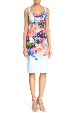 LOVE!  Ted Baker London 'Emore' Floral Print Strappy Sheath Dress available at #Nordstrom