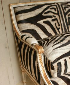 #Zebra and gilt settee #interiors #decor